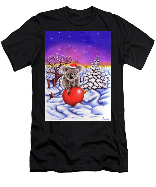 Koala On Christmas Ball Men's T-Shirt (Athletic Fit)