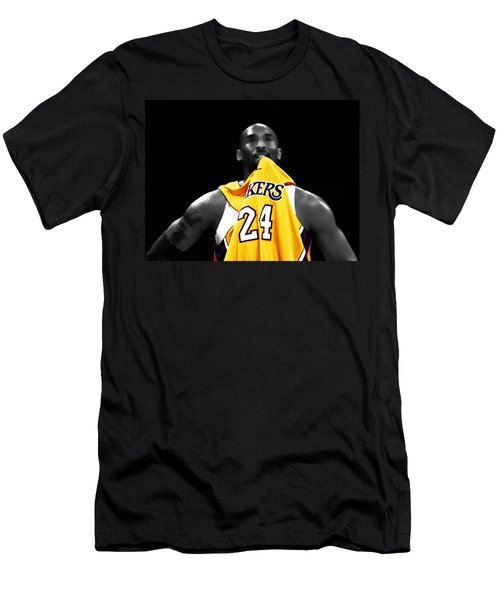 Kobe Bryant 04c Men's T-Shirt (Slim Fit) by Brian Reaves