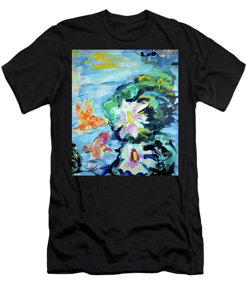 Koi Fish And Water Lilies Men's T-Shirt (Athletic Fit)