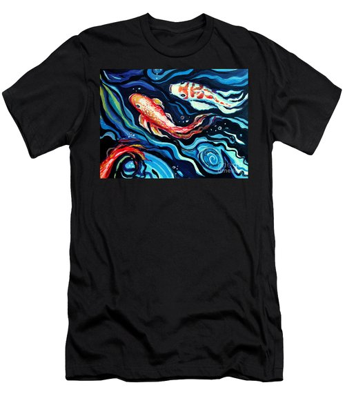 Koi Fish In Ribbons Of Water II Men's T-Shirt (Athletic Fit)