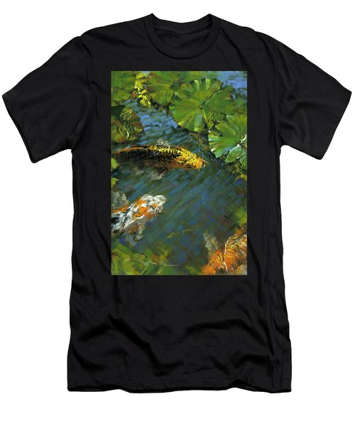 Koi Pond Men's T-Shirt (Athletic Fit)
