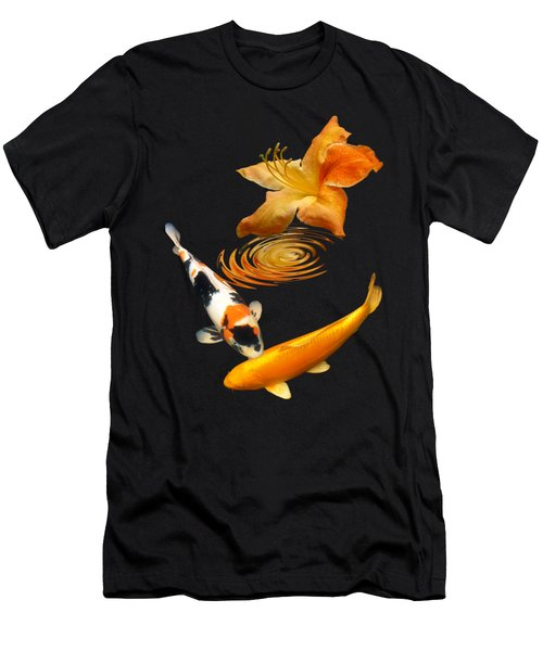 Koi With Azalea Ripples Vertical Men's T-Shirt (Athletic Fit)