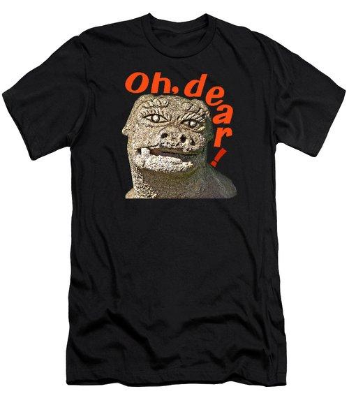 Men's T-Shirt (Athletic Fit) featuring the mixed media Komainu10 by Yoshimitsu Takuki