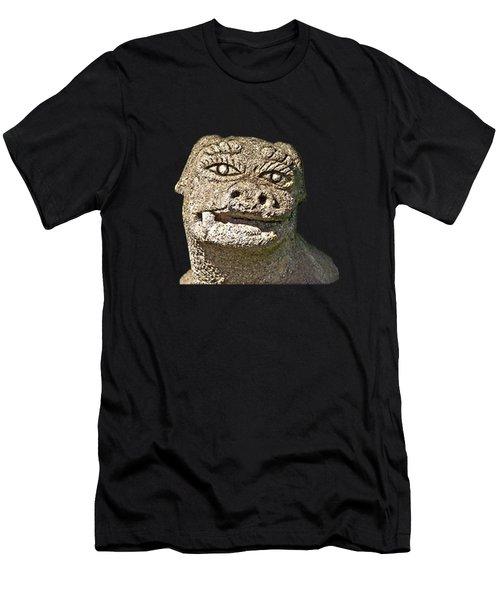 Men's T-Shirt (Athletic Fit) featuring the mixed media Komainu10n by Yoshimitsu Takuki