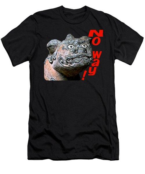 Men's T-Shirt (Athletic Fit) featuring the mixed media Komainu16 by Yoshimitsu Takuki