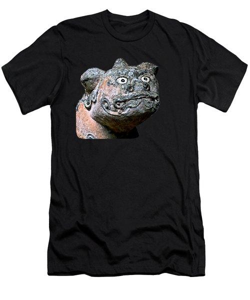 Men's T-Shirt (Athletic Fit) featuring the mixed media Komainu16n by Yoshimitsu Takuki