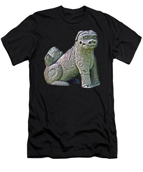 Men's T-Shirt (Athletic Fit) featuring the mixed media Komainu20n by Yoshimitsu Takuki