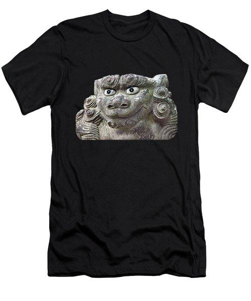 Men's T-Shirt (Athletic Fit) featuring the mixed media Komainu24 by Yoshimitsu Takuki