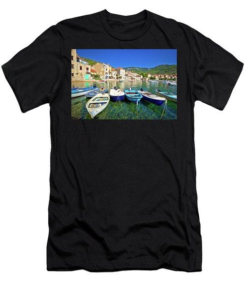 Komiza On Vis Island Turquoise Waterfront Men's T-Shirt (Athletic Fit)