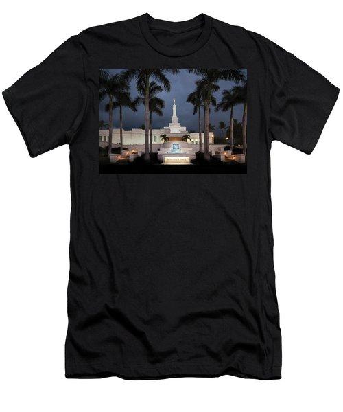 Kona Hawaii Temple-night Men's T-Shirt (Athletic Fit)
