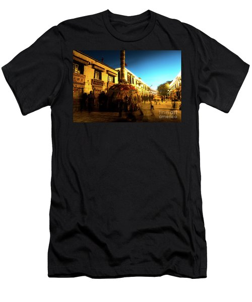 Kora At Night At Jokhang Temple Lhasa Tibet Artmif.lv Men's T-Shirt (Athletic Fit)