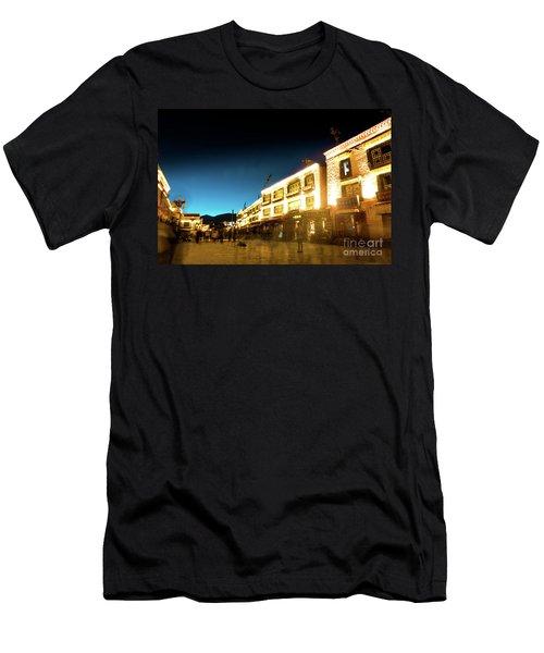 Kora At Night At Jokhang Temple Lhasa Tibet Yantra.lv Men's T-Shirt (Athletic Fit)