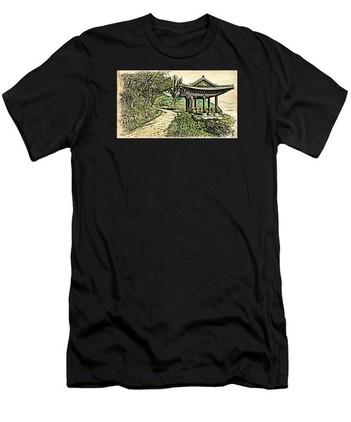 Korean Architecture Men's T-Shirt (Athletic Fit)