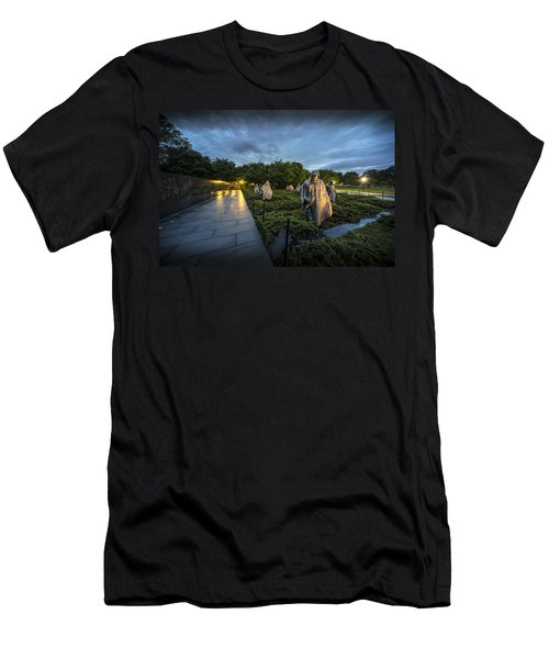 Men's T-Shirt (Athletic Fit) featuring the photograph Korean War Memorial by David Morefield