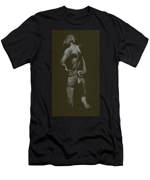Kroki 2015 01 10_7 Figure Drawing White Chalk Men's T-Shirt (Athletic Fit)