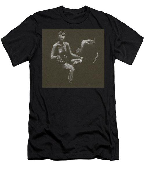 Kroki 2015 04 25 _3 Figure Drawing White Chalk Men's T-Shirt (Athletic Fit)
