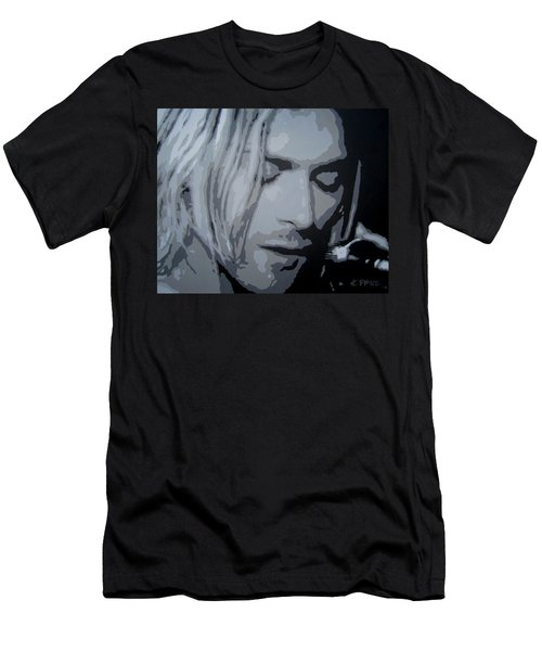Men's T-Shirt (Slim Fit) featuring the painting Kurt Cobain by Ashley Price