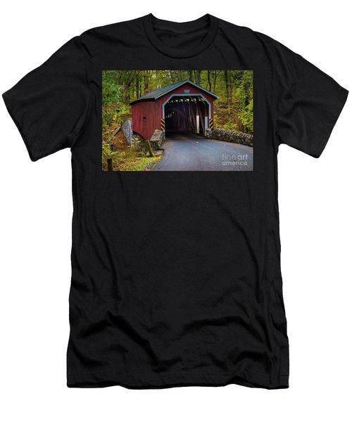 Kurtz Mill Covered Bridge Men's T-Shirt (Athletic Fit)