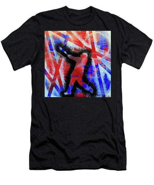 Kyle Schwarber - #letsgo Men's T-Shirt (Slim Fit) by Melissa Goodrich