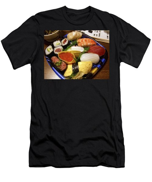 Kyoto Japan Economy Sushi Plate Men's T-Shirt (Athletic Fit)