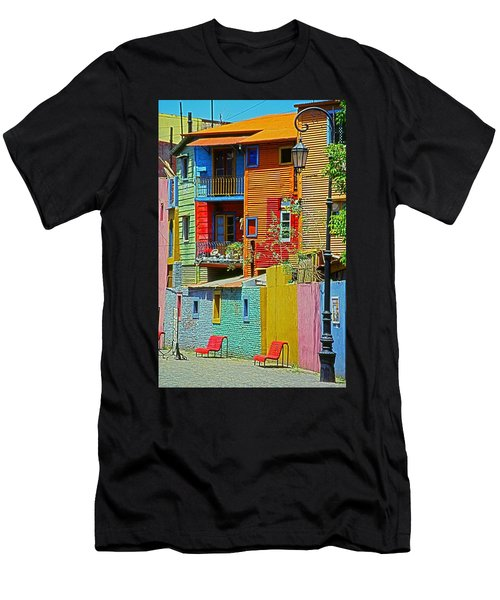La Boca - Buenos Aires Men's T-Shirt (Athletic Fit)