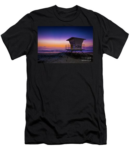 La Jolla Beach Sunset Men's T-Shirt (Athletic Fit)