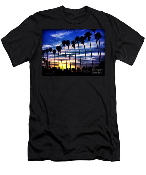 La Jolla Silhouette - Digital Painting Men's T-Shirt (Slim Fit) by Sharon Soberon