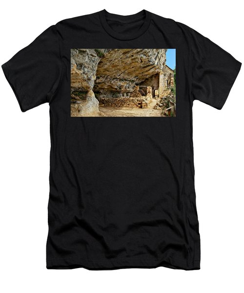 Men's T-Shirt (Athletic Fit) featuring the photograph La Madeleine Ruins by Anthony Dezenzio