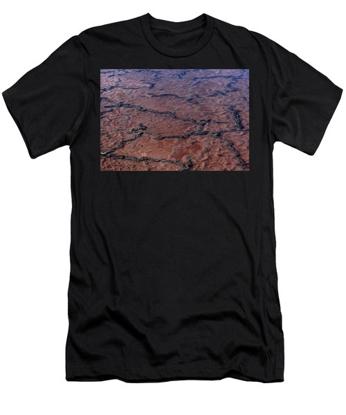 La Palma, Canary Island, Red Algae, Dunaliella Salina In The Crystallisation Of The Salt Mines In Fu Men's T-Shirt (Athletic Fit)