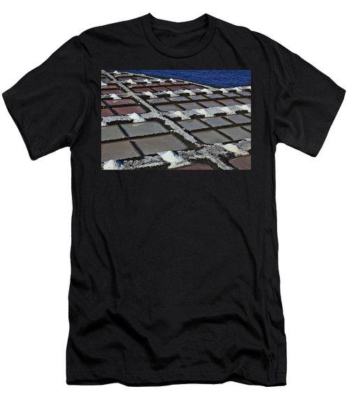 La Palma, Canary Island, Salinas, Crystallization Basin Men's T-Shirt (Athletic Fit)