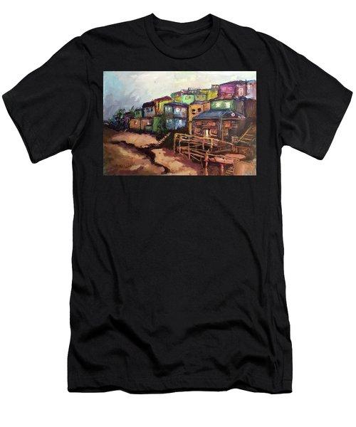La Perla De Puerto Rico Men's T-Shirt (Slim Fit) by Janet Garcia