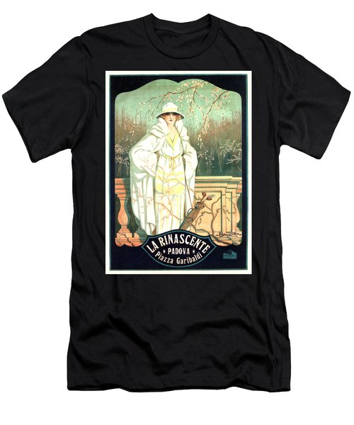 La Rinascente - Italian Store - Vintage Advertising Poster Men's T-Shirt (Athletic Fit)