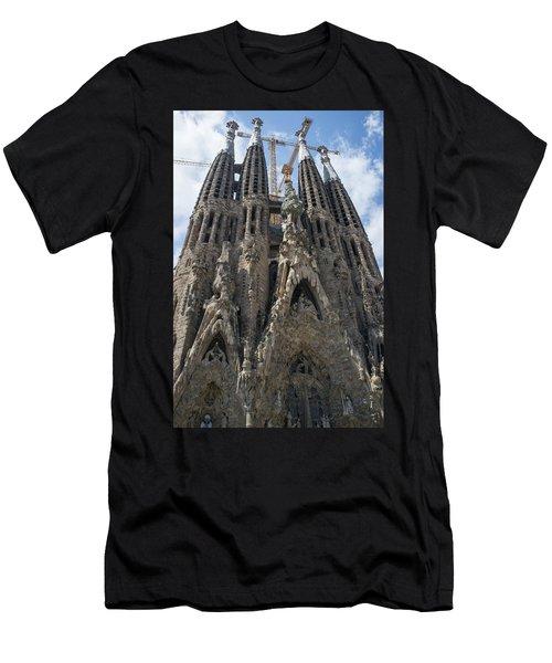 Men's T-Shirt (Athletic Fit) featuring the photograph La Sagrada Familia by Frank DiMarco