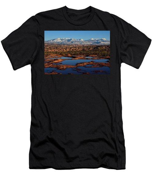 La Sal Mountains And Ephemeral Pools Men's T-Shirt (Athletic Fit)