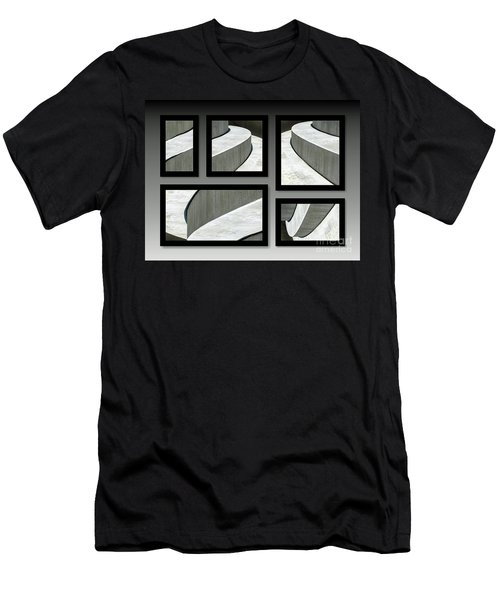 Men's T-Shirt (Athletic Fit) featuring the photograph La Stairs Collage 01a by Ausra Huntington nee Paulauskaite