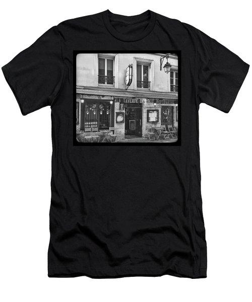 Men's T-Shirt (Athletic Fit) featuring the photograph La Taverne De Montmartre, Paris by Frank DiMarco