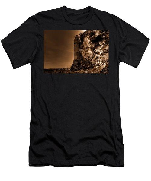 La Tour In Sepia Men's T-Shirt (Athletic Fit)