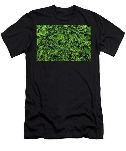 Life In Green Men's T-Shirt (Slim Fit) by Dorin Adrian Berbier