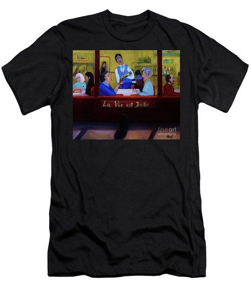 La Vie Est Belle Men's T-Shirt (Athletic Fit)