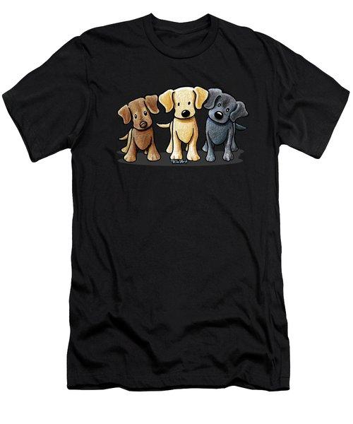 Labrador Beach Trio Men's T-Shirt (Athletic Fit)