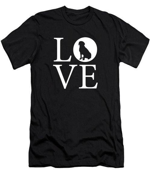 Labrador Love Red Men's T-Shirt (Athletic Fit)