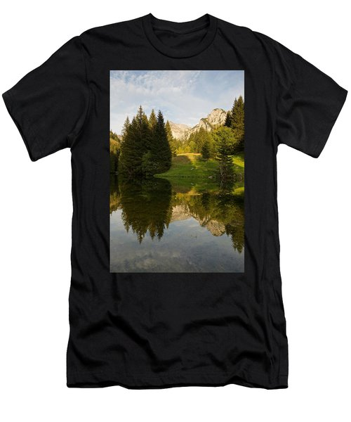 Lac De Fontaine Reflections Men's T-Shirt (Athletic Fit)
