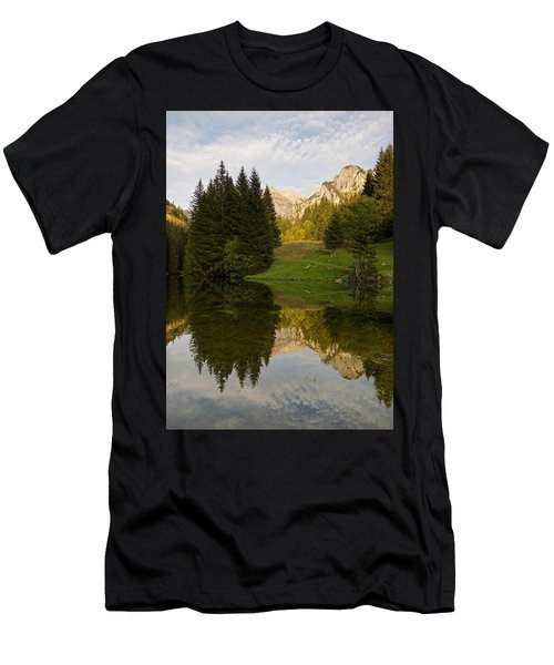 Lac De Fontaine Men's T-Shirt (Athletic Fit)