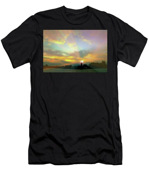Men's T-Shirt (Slim Fit) featuring the photograph Lackawanna Transit Sunset by Diana Angstadt