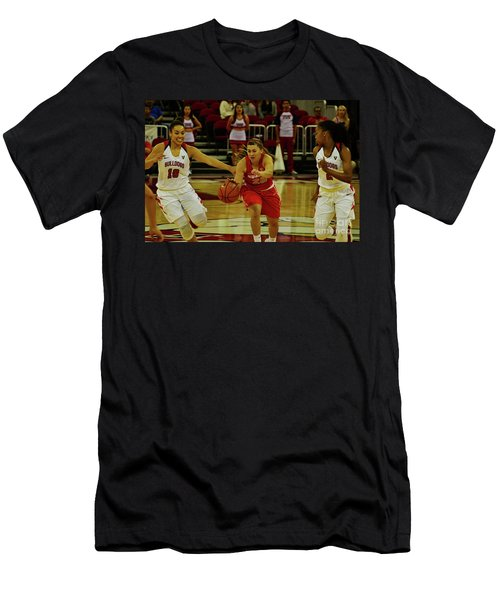 Men's T-Shirt (Slim Fit) featuring the photograph Ladies Basketball by Debby Pueschel