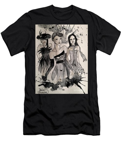 Men's T-Shirt (Athletic Fit) featuring the painting Ladies Galore by Denise Tomasura