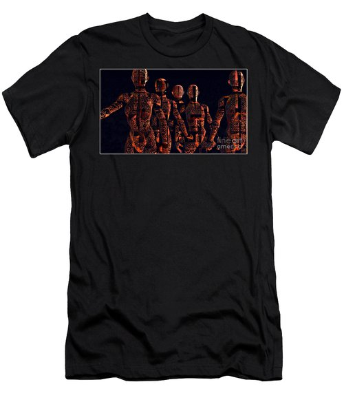 Men's T-Shirt (Athletic Fit) featuring the photograph Lady Hunters by Luc Van de Steeg