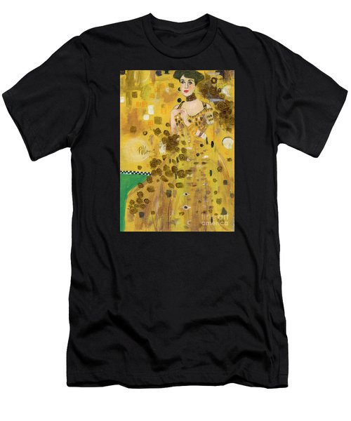 Lady In Gold Men's T-Shirt (Athletic Fit)