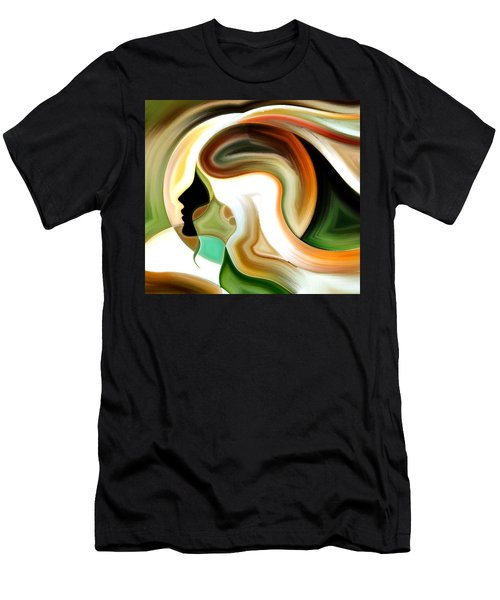 Men's T-Shirt (Slim Fit) featuring the painting Lady Of Color by Karen Showell