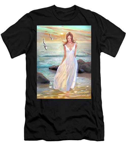 Lady Walking On The Beach Men's T-Shirt (Athletic Fit)